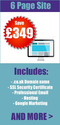 6 page web design london