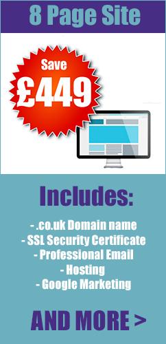 8 page web design london