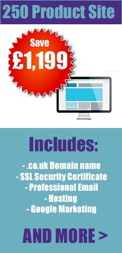 151-250 product ecommerce web design london